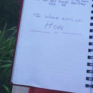 Journal entry from the Little Red Mailbox